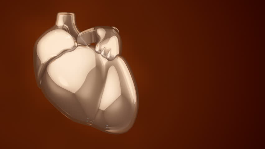 Animation of rotation human heart from glass. Movie of health care or science. Animation of seamless loop. | Shutterstock HD Video #15067456