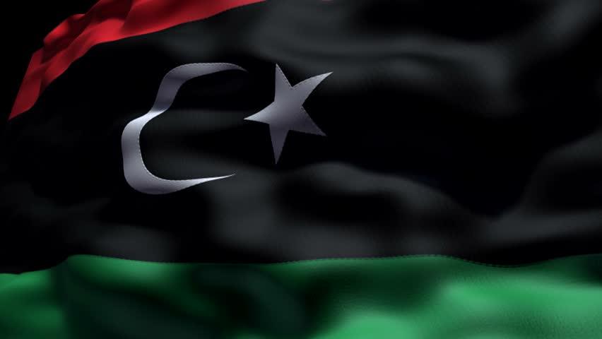 CG animation of Libyan flag.   Shutterstock HD Video #1510522