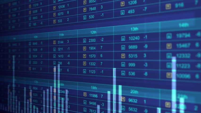 Stock Market Trend Of Animation Stock Footage Video