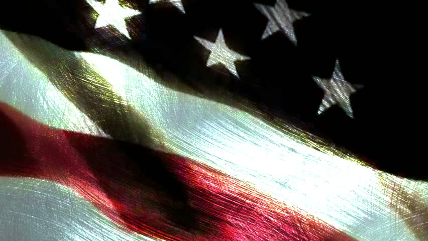 Soldiers In Front of US Military Flag - HD stock footage clip