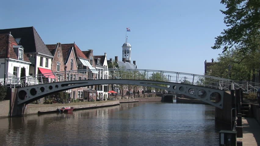 Holland Friesland Dokkum Stock Footage Video 1525346