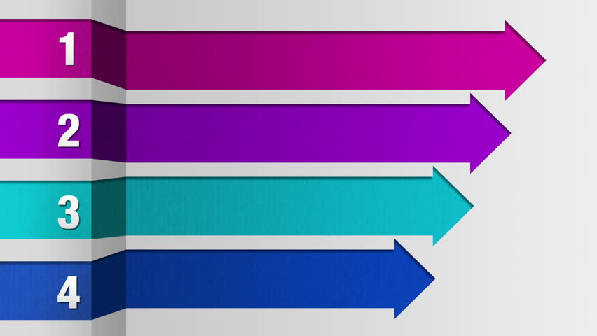 One Square Arrow Bar Intro Title Box Chart Powerpoint