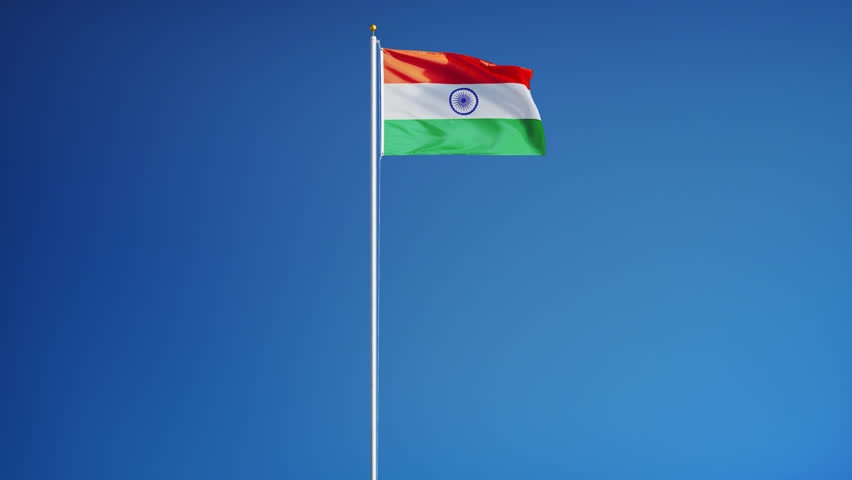 India Flag Black: Detail Of Waving Flag Stock Footage Video 778300
