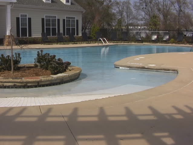 Swimming Pool With No One Around - SD stock footage clip