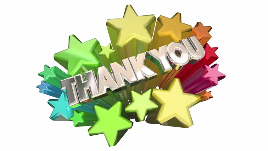 Thank You Appreciation Message Stars Words 3d | Shutterstock HD Video #15356455