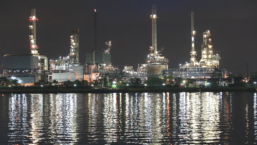 Oil refinery - Industry plant - HD stock footage clip