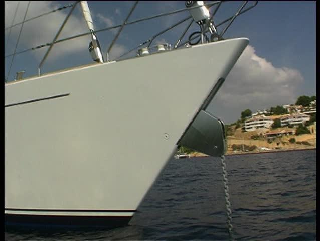 Yacht in bay 6 - SD stock video clip
