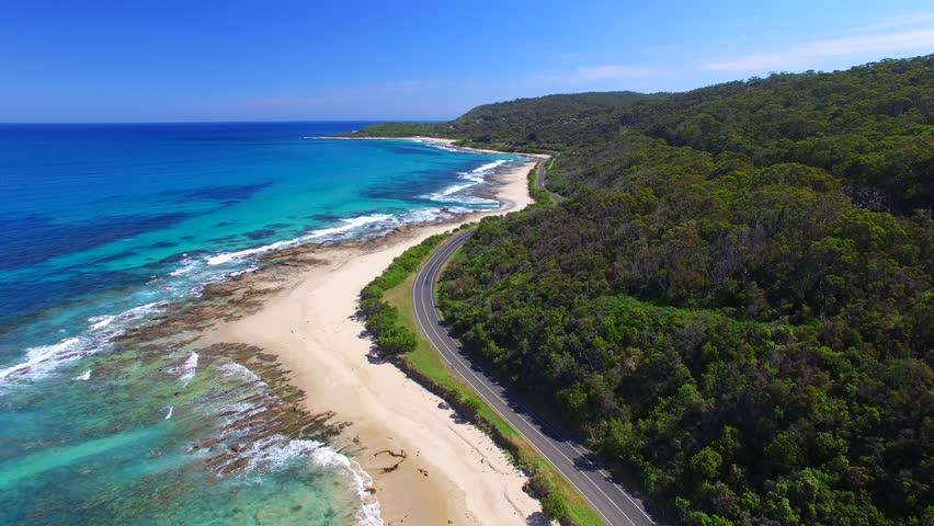 Bird's eye view of Great Ocean Road - Australia | Shutterstock HD Video #15390430