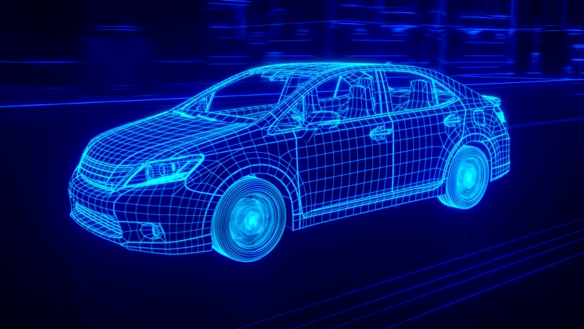 City car Wireframe View - conceptual | Shutterstock HD Video #15427717