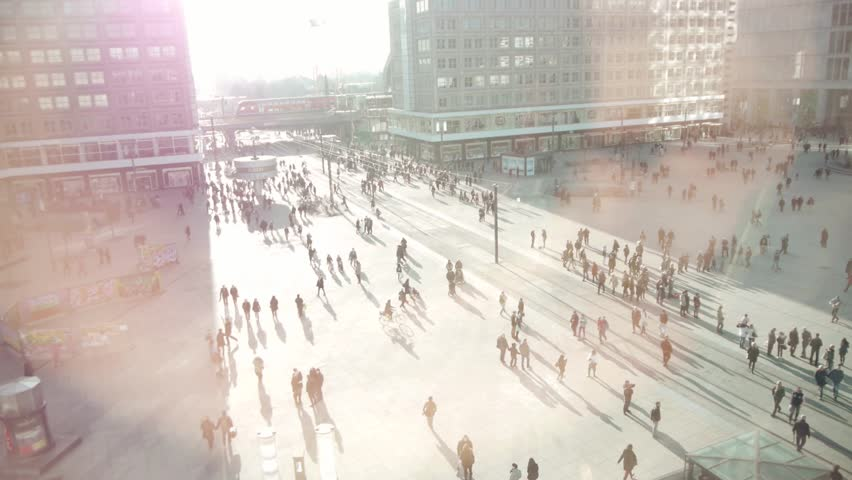 People in the city. urban lifestyle background. pedestrians walking on public street  | Shutterstock HD Video #15446275