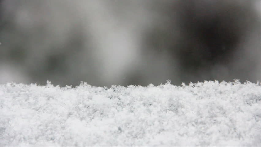 Snow. Falling snowflakes with selective focus. Winter design concept. - HD stock footage clip