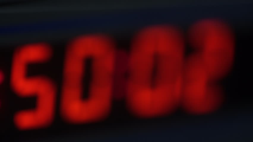 Lights of Buttons of Synchro Clock of Console Broadcasting TV