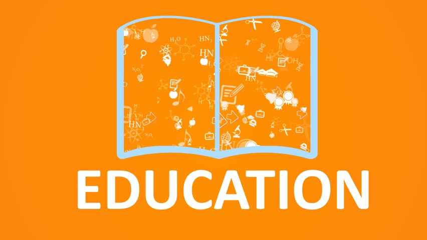 Open books and icons of science and education. The concept of modern education | Shutterstock HD Video #15462457