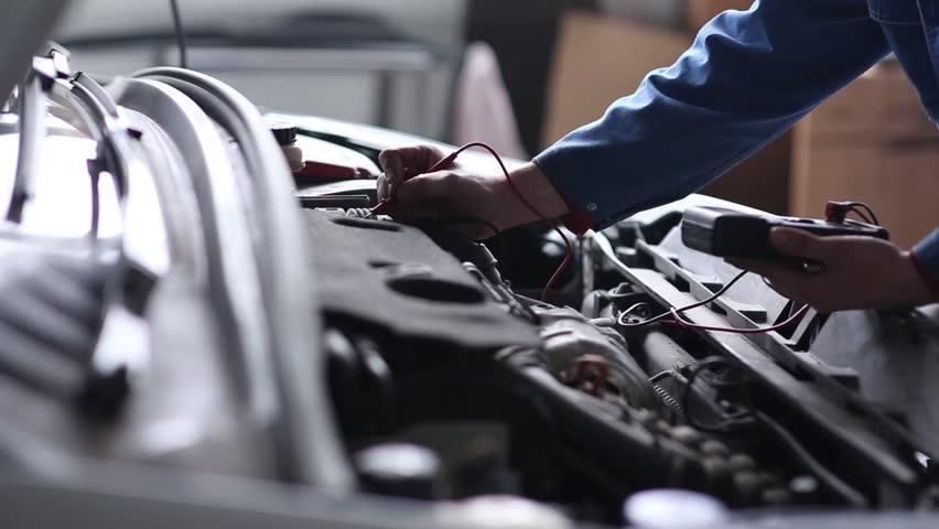 Professional car mechanic, auto repair concept - HD stock video clip