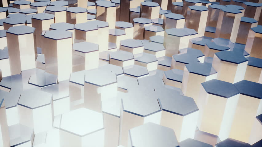 Hexagon Background Loop Full HD 3d Render | Shutterstock HD Video #15575803