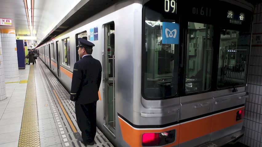 Subway leaving station in Tokyo, Japan, December 2009  | Shutterstock HD Video #15609319