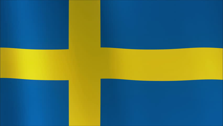 A beautiful satin finish looping flag animation of Sweden. 4K loop 100% - 4K stock video clip