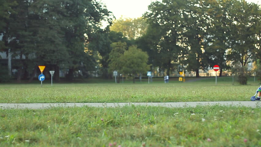 Family in the park, slow motion  - HD stock video clip