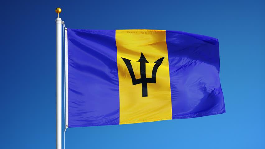 Barbados Flag Flying