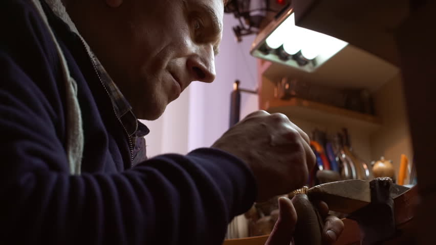 At the jeweller's workshop. Close up. Slow motion   Shutterstock HD Video #15684424