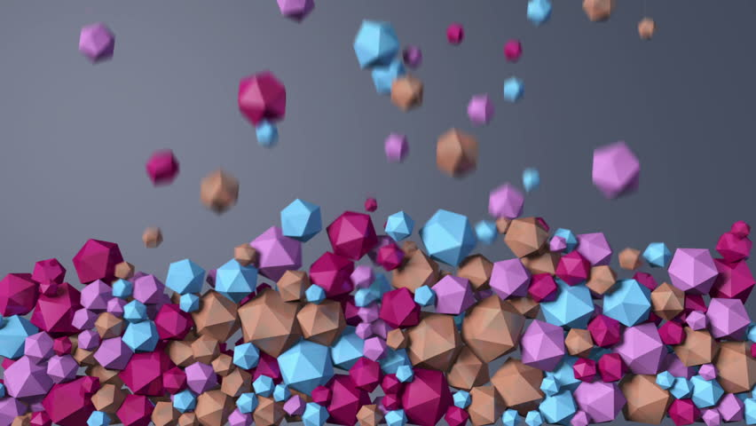 Falling colored crystals | Shutterstock HD Video #15738532