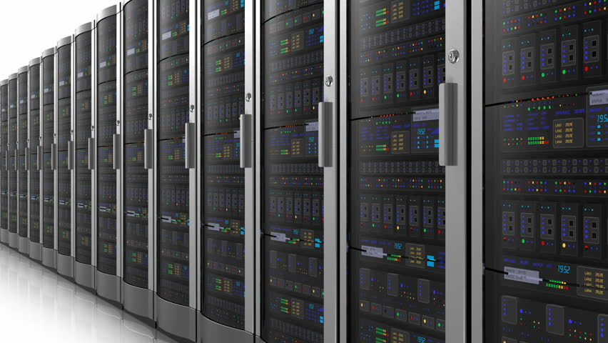 Endless moving row of network servers | Shutterstock HD Video #1574152