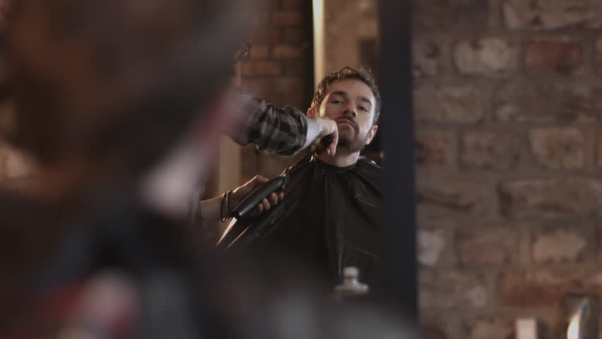 Barber in Gentlemans Barber shaving client | Shutterstock HD Video #15758494