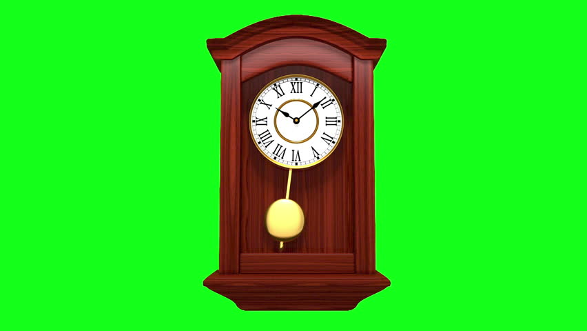 Chiming wall clock - HD stock footage clip