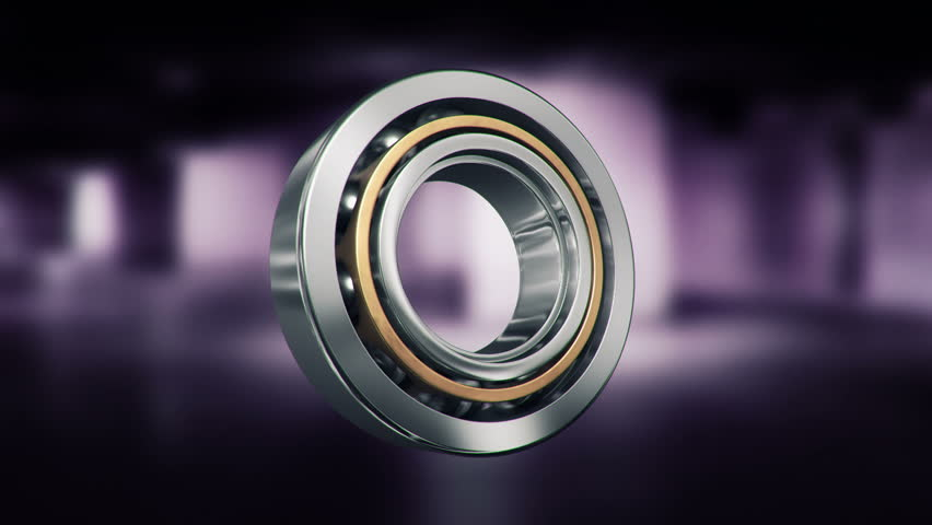 Animation of rotation steel ball bearing. Animation of seamless loop. - HD stock footage clip