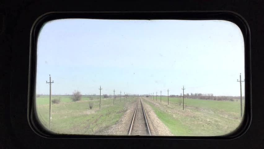 Window view of the last car a railway train, background | Shutterstock HD Video #15807670