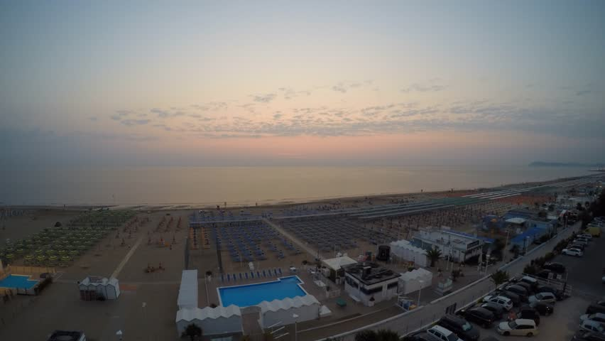 Sunrise - Adriatic sea - 4K stock footage clip