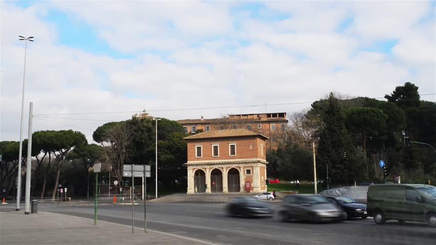 Timelapse: Porta Capena was a gate in Servian Wall near Caelian Hill, in Rome, formerly sacred forest where Numa Pompilius and Egeria met. Porta Capena square also hosts Casino La Vignola Boccapaduli
