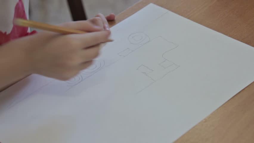 Kids drawing at kindergarten by pencils | Shutterstock HD Video #15885223