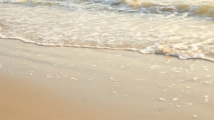 beach and sea in summer. - HD stock footage clip