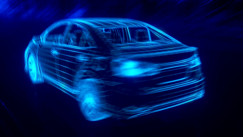 City car Wireframe View - conceptual | Shutterstock HD Video #15983557