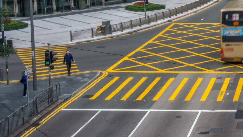 HONG KONG/HONGKONG - MAR 31 2016: Timelapse of City Traffic and Pedestrian at Hong Kong Central Distict | Shutterstock HD Video #16008856