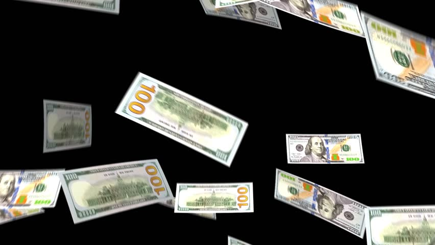 dollar bills falling on - photo #33