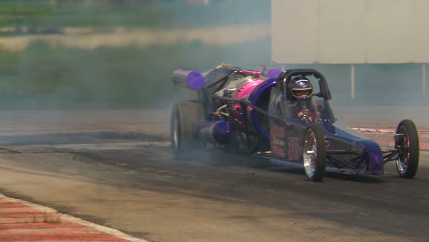 Motor sports, Drag racing, jet car smoke show - HD stock footage clip