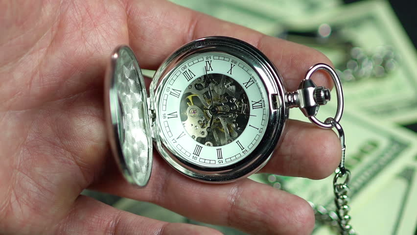 Detailed view of watch mechanism. Better late than never, person wasting time #16183114