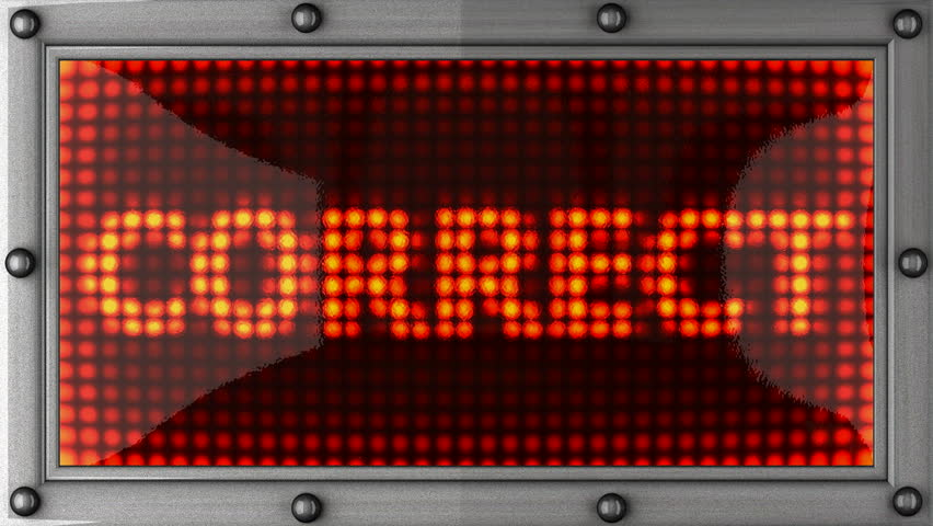 correct  announcement on the LED display - HD stock footage clip
