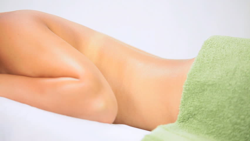 Health Spa Client Relaxing After Body Massage Therapy - HD stock video clip