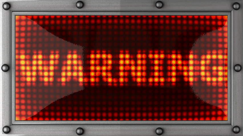 warning  announcement on the LED display - HD stock footage clip