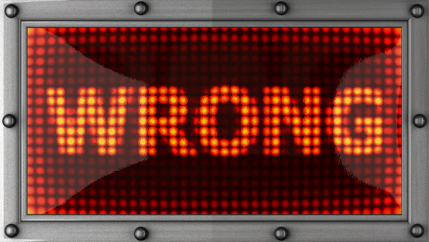wrong  announcement on the LED display - HD stock footage clip