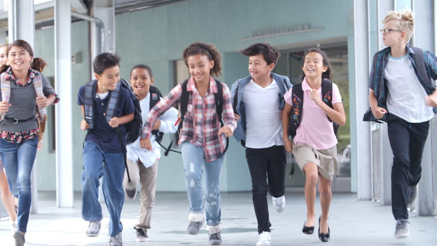 children running in school - photo #45