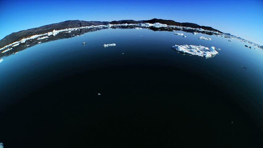 Frozen Sea Ice in Wide-Angle - HD stock video clip