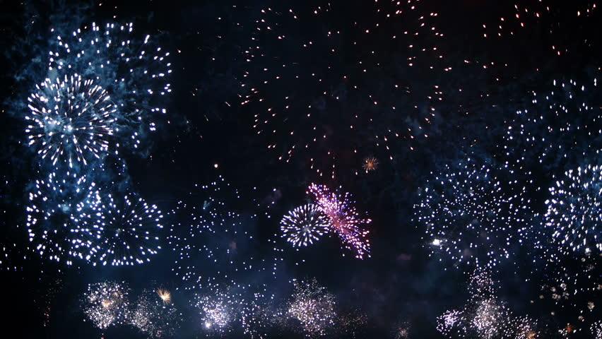 HD - Fireworks festival - HD stock video clip