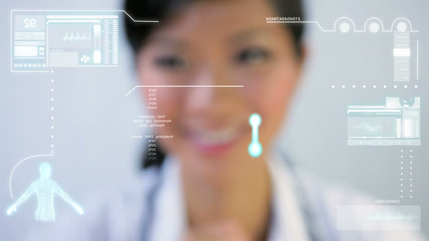 DNA Medical Touchscreen Technology - HD stock footage clip