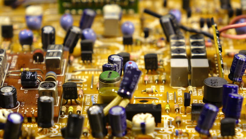Macro dolly shot of circuit board. Shallow DOF - 4K stock video clip