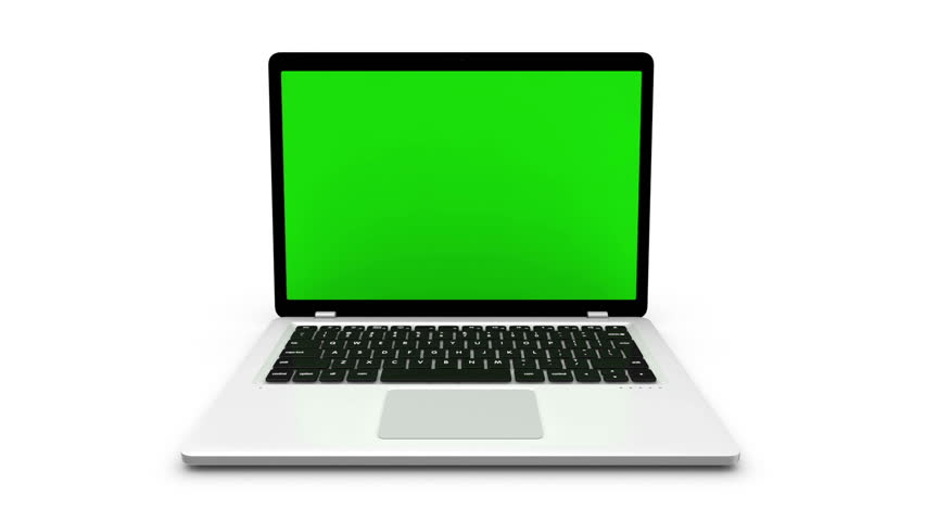 Modern laptop isolated on white. Animation with green screen and alpha channel. | Shutterstock HD Video #16470295
