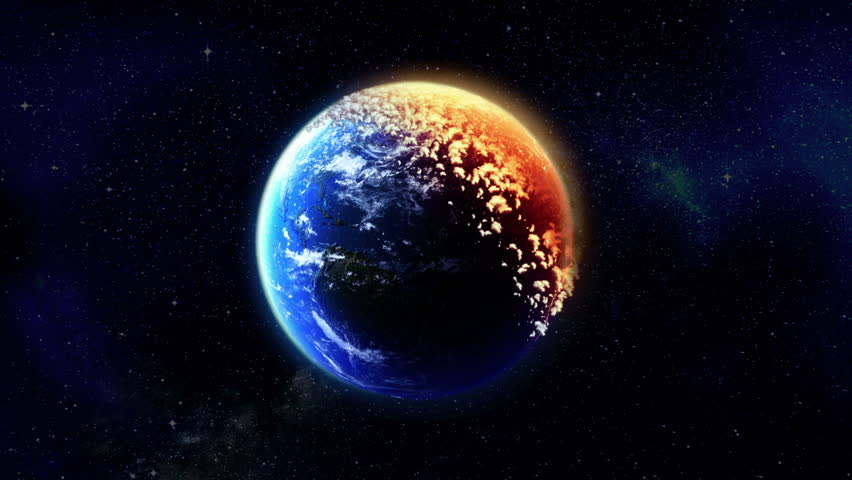 Earth Burns. Ecological concept. - HD stock video clip